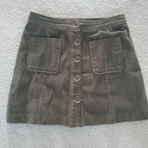 Zara Corduroy Skirt Size XS